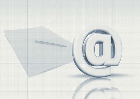 E-mail s�mbolo y pluma