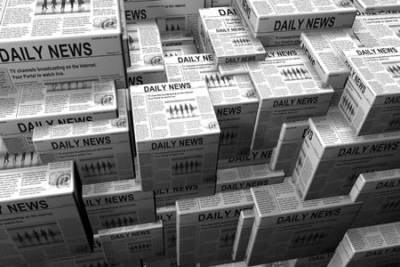 pile of newspapers: A background of stacks of newspaper.