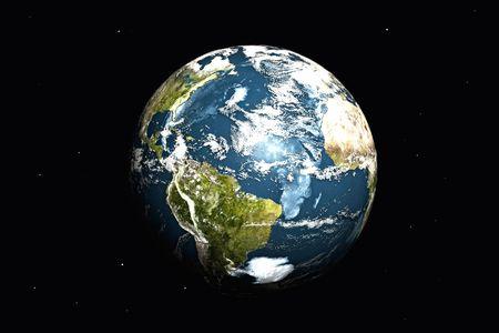 Planeta tierra. Ilustraci�n 3D.