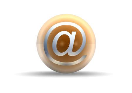 s�mbolo de correo electr�nico sobre fondo blanco  Foto de archivo