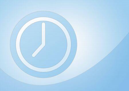 reloj sobre fondo azul