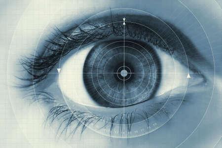 Fondo de tecnolog�a con ojo selectiva  Foto de archivo