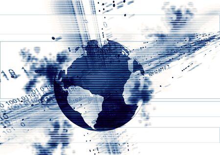 datos de secuencia y el planeta tierra  Foto de archivo