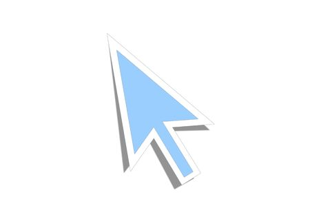 arrow cursor on white background