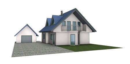 house on white background