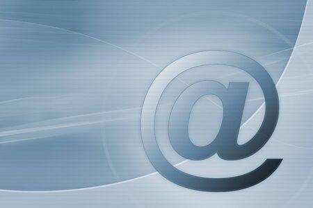 s�mbolo de correo electr�nico sobre fondo azul