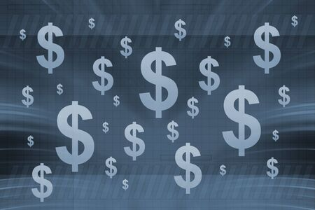 dollar signs on blue background