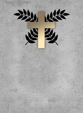 signo religioso en segundo plano