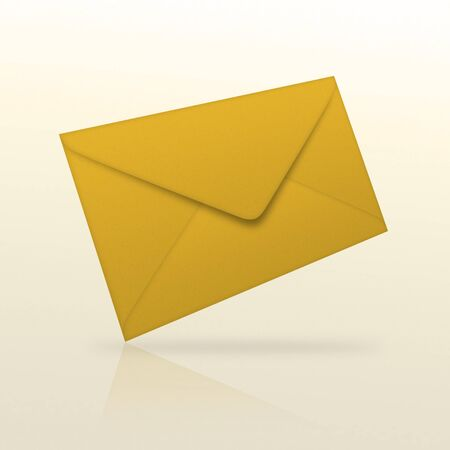High resolution envelope over a  white background
