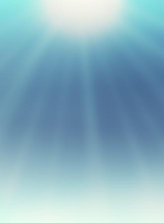 Sunburst on blue sky