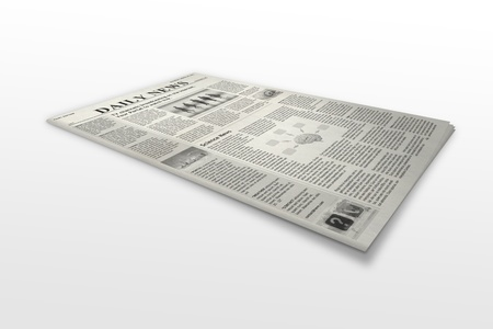 newspaper is on a white background