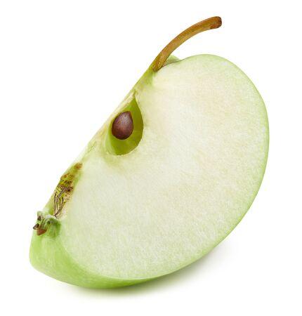Pommes isolées sur blanc Banque d'images