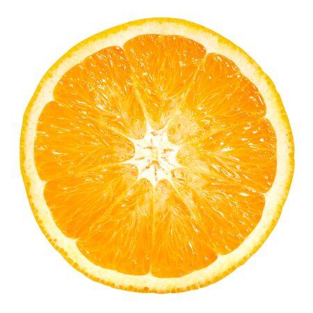 Fruits orange isolés sur blanc