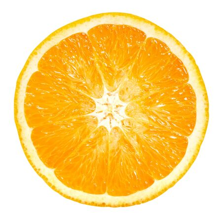 Orange fruits isolated on white