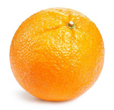 Frutas naranjas aisladas en blanco