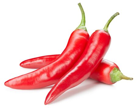 chili pepper isolated on white