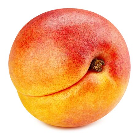 Apricot fruit isolated on white Stockfoto