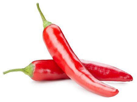 papryczka chili na białym tle
