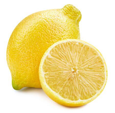 Zitronenfrucht isoliert auf weißem Hintergrund