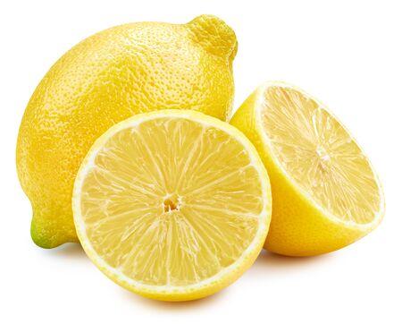 Fruit de citron isolé sur blanc