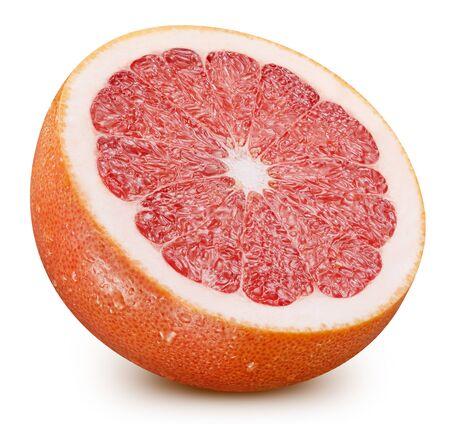 Grapefruit half isolated on white background. Foto de archivo