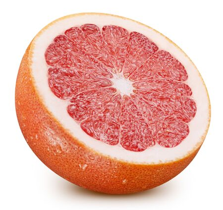 Grapefruit half isolated on white background. Stock Photo