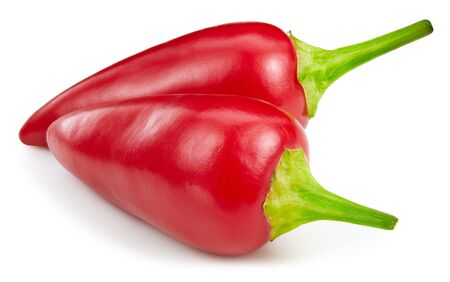 Chili pepper isolated on white background.