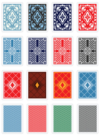 in the back: Playing Cards -  Back Design Set