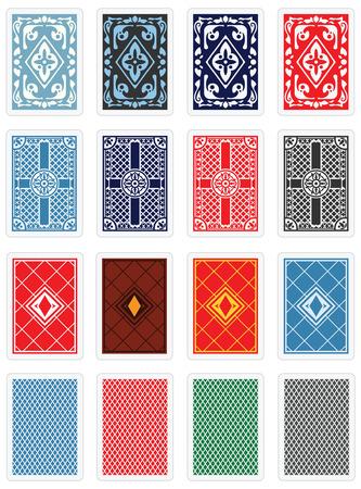 espalda: Playing Cards - Dise�o trasero Set