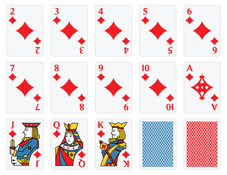 king and queen: Playing Cards - Diamonds Set