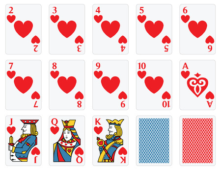 playing card: Playing Cards -  Hearts Set