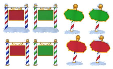 north pole sign: North Pole Sign 3D Set