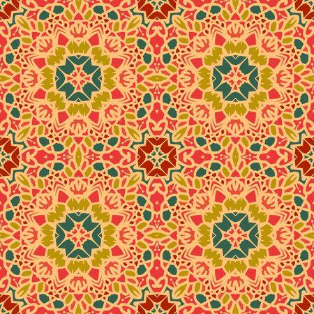 Abstract floral nahtlose Muster. Enthält alle Arten von Stilen, von Retro bis hin zu komplexen Mandala Dekorationen. Groß für Hintergrundbilder, Hintergründe, Packpapier, Oberflächenstrukturen. Vektorgrafik