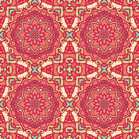 kind: Abstract floral seamless pattern. Contains all kind of styles from retro to complex mandala decorations. Great for wallpapers, backgrounds, wrapping paper, surface textures.