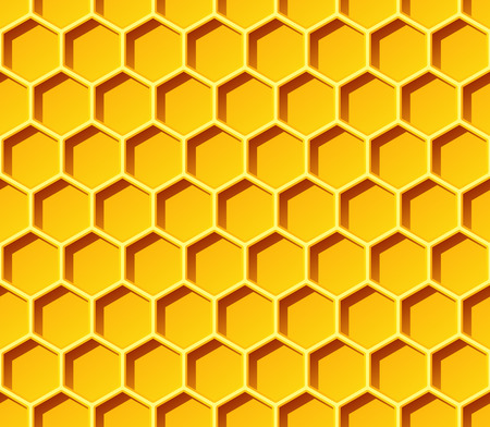 Honeycomb Seamless Vector Pattern. Great for backgrounds, wallpapers, games and other design projects. Ilustracja