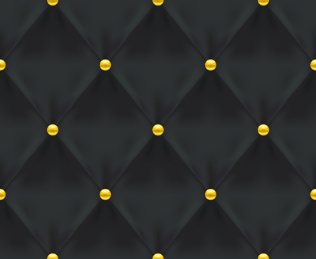 Black Quilted Seamless Vector Pattern.