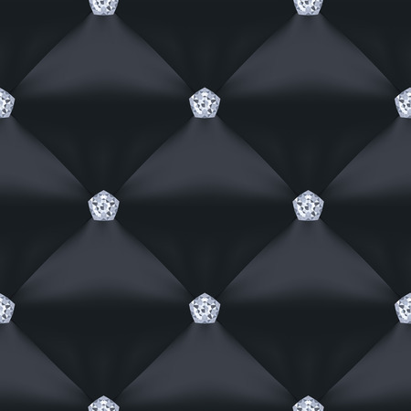 quilted: Black Quilted Seamless Vector Pattern. Vector background made with gradient mesh. Great for luxury and VIP projects.