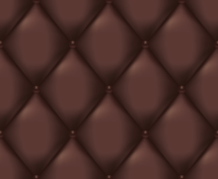 Brown Quilted Seamless Vector Pattern.Vector background made with gradient mesh. Great for luxury and VIP projects. Ilustracja