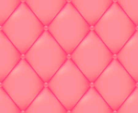 quilted fabric: Pink Quilted Seamless Vector Pattern.Vector background made with gradient mesh. Great for luxury and VIP projects. Illustration