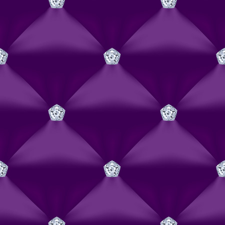 Purple Quilted Seamless Vector Pattern.Vector background made with gradient mesh. Great for luxury and VIP projects. Ilustracja