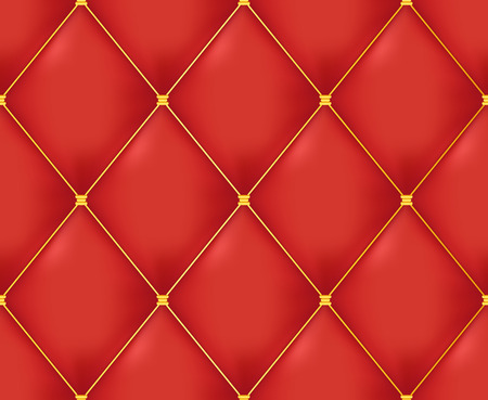 Red Quilted Seamless Vector Pattern.Vector background made with gradient mesh. Great for luxury and VIP projects.