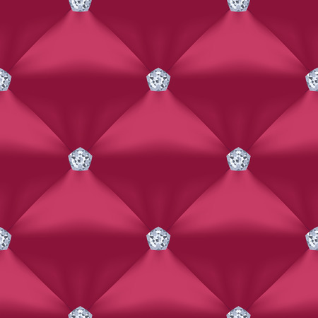 Red Violet Quilted Seamless Vector Pattern.Vector background made with gradient mesh. Great for luxury and VIP projects. Ilustracja