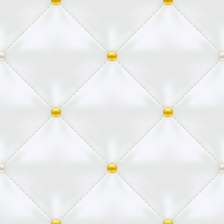 White Quilted Seamless Vector Pattern.Vector background made with gradient mesh. Great for luxury and VIP projects.