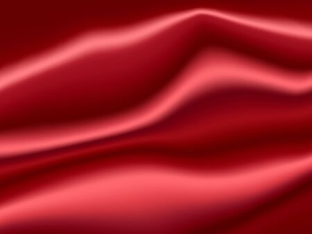 gradient mesh: Red Satin Abstract Vector Texture. Background made with gradient mesh. Illustration