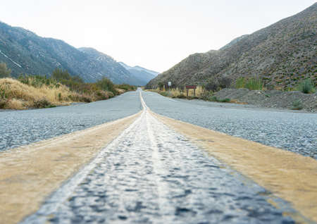 Road in a canyon in California. recorded in 2017.