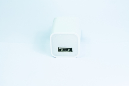 Electrical adapter to USB port Stock Photo - 18424709