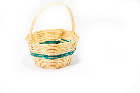 empty wicker basket photo