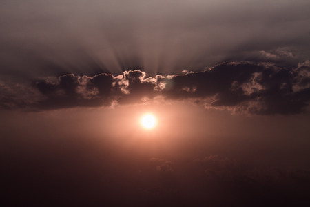 wilderness area: sunset and dust Stock Photo