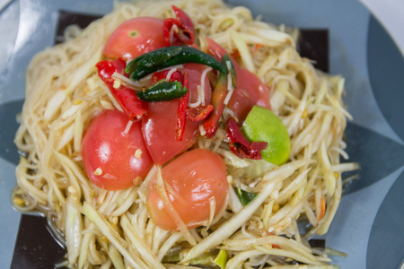 papaya salad with noodle photo