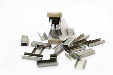 staples: Stapler and staples Stock Photo